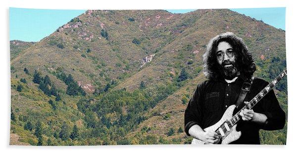 Jerry Garcia And Mount Tamalpais Bath Towel