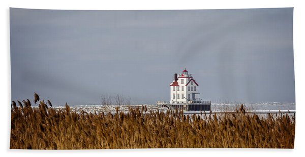 jewel of the Port Lorain Lighthouse Bath Towel