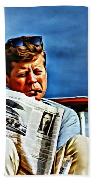 John F Kennedy Hand Towel