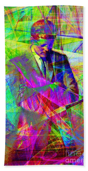 John Fitzgerald Kennedy Jfk In Abstract 20130610 Bath Towel