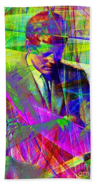 John Fitzgerald Kennedy Jfk In Abstract 20130610v2 Bath Towel