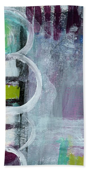 Junction- Abstract Expressionist Art Hand Towel