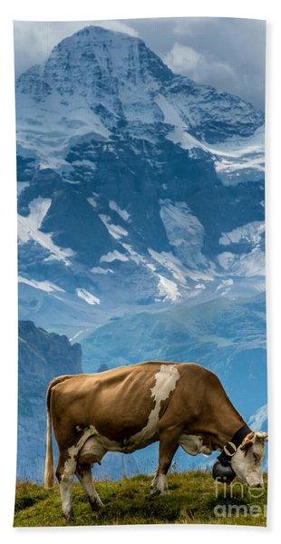 Jungfrau Cow - Grindelwald - Switzerland Hand Towel