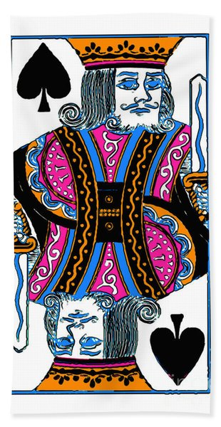 King Of Spades - V3 Bath Towel