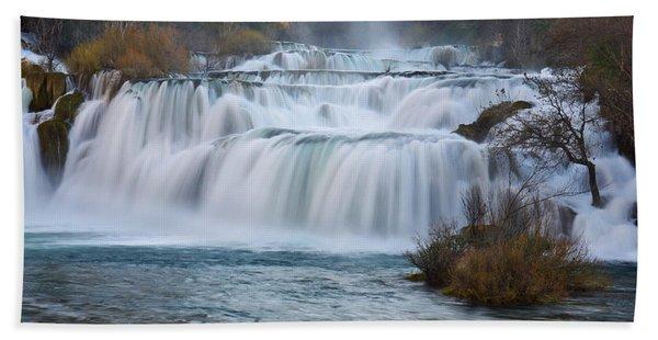 Krka Waterfalls Hand Towel