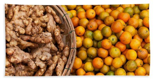 Kumquats And Ginger Bath Towel