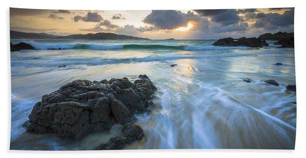 La Fragata Beach Galicia Spain Bath Towel