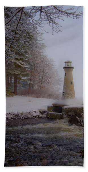 Lake Potanipo Lighthouse Hand Towel
