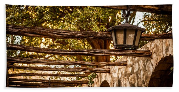 Lamps At The Alamo Hand Towel