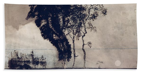Landscape With Three Trees Hand Towel