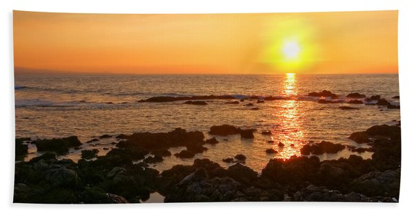 Lava Rock Beach Bath Towel