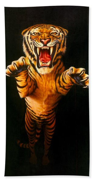 Leaping Tiger Hand Towel