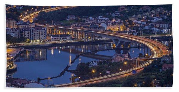 Lerez River Pontevedra Galicia Spain Bath Towel