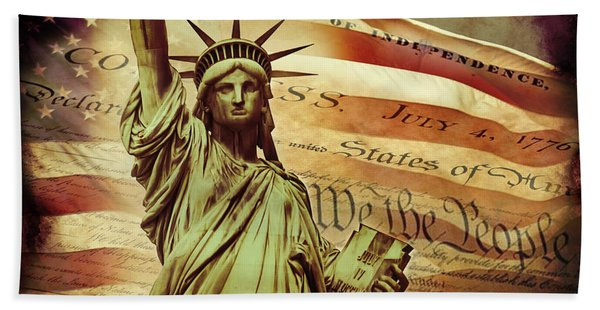 Declaration Of Independence Hand Towel