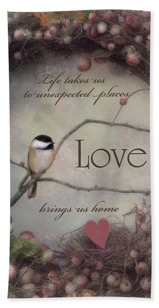 Life Love Home Bath Towel