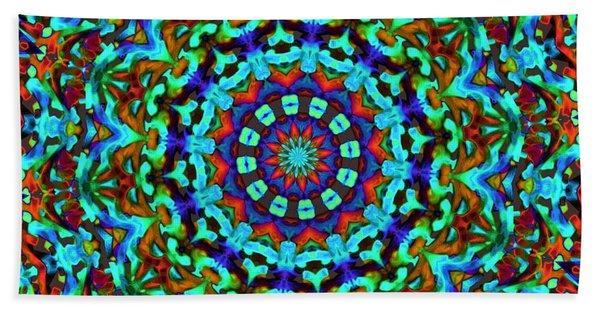 Liquid Dream Kaleidoscope Hand Towel