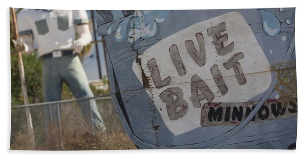 Live Bait And The Man Bath Towel