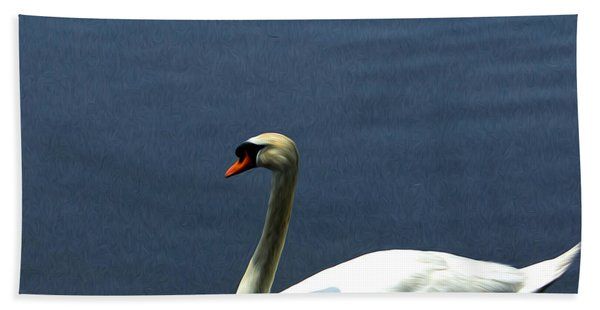 Lonesome Swan Hand Towel
