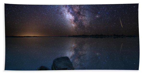 Looking At The Stars Hand Towel