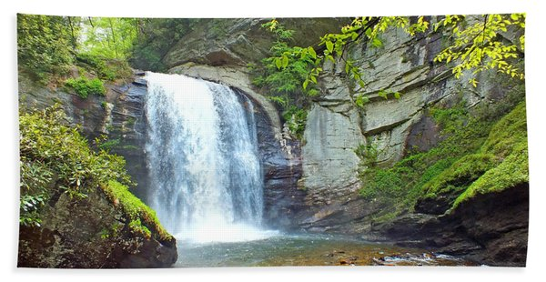 Looking Glass Waterfall In The Spring 2 Hand Towel