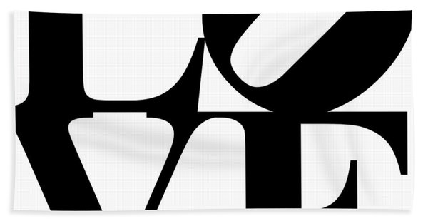 Love 20130707 Black White Bath Towel
