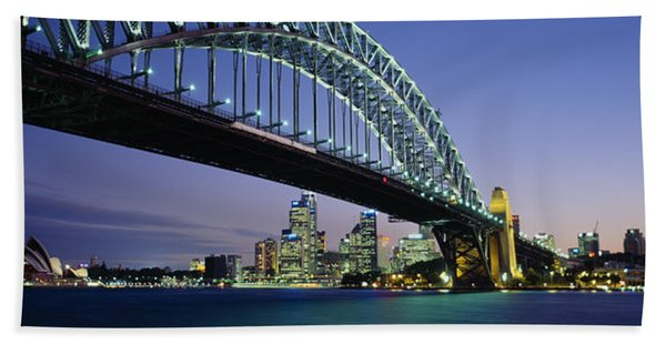 Low Angle View Of A Bridge, Sydney Hand Towel