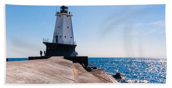Ludington Lighthouse Bath Towel