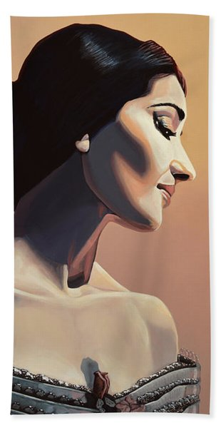 Maria Callas Painting Bath Towel