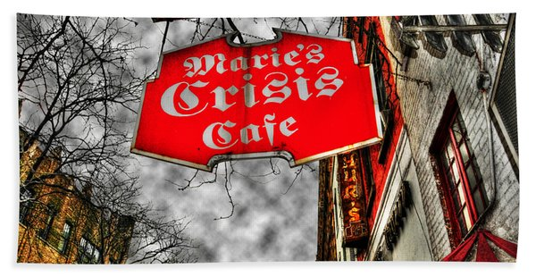Marie's Crisis Cafe Hand Towel