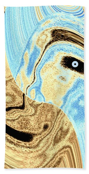 Masked- Man Abstract Hand Towel