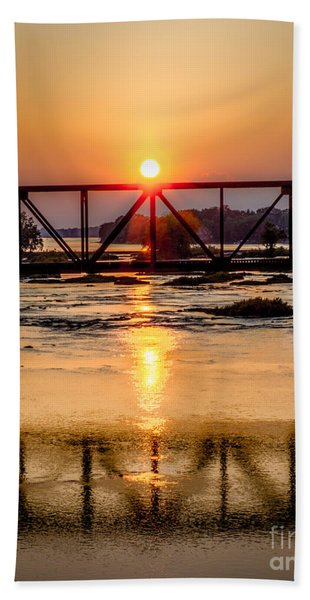 Maumee River At Grand Rapids Ohio Bath Towel