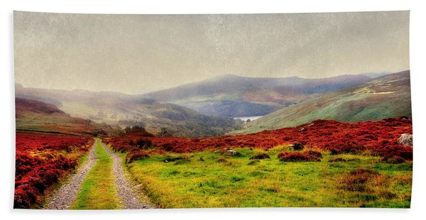 May It Be Your Journey On. Wicklow Mountains. Ireland Bath Towel