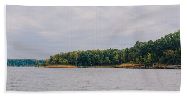 Men Fishing On Barren River Lake Hand Towel