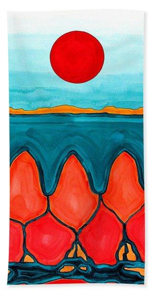 Mesa Canyon Rio Original Painting Bath Towel