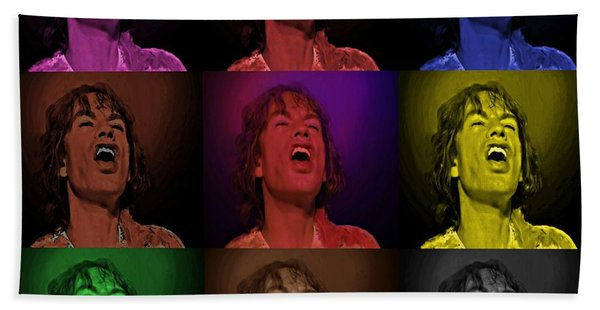 Mick Jagger Pop Art Print Bath Towel
