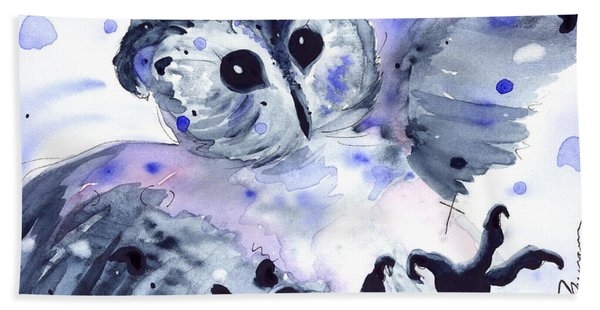 Midnight Owl Hand Towel