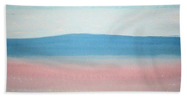 Misty Lake Original Painting Bath Towel