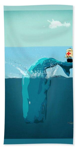 Moby Dick Bath Towel