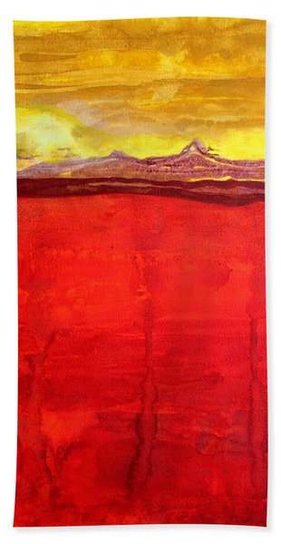 Mojave Dawn Original Painting Hand Towel