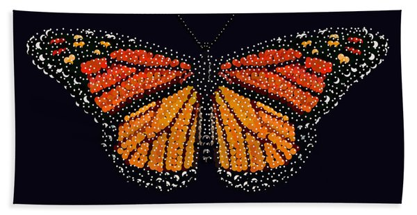 Monarch Butterfly Bedazzled Hand Towel