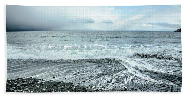 Moody Waves French Beach Bath Towel