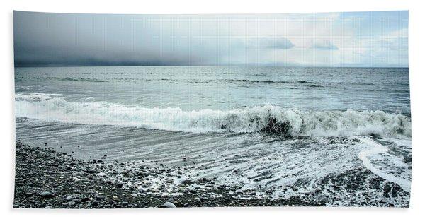 Moody Shoreline French Beach Hand Towel
