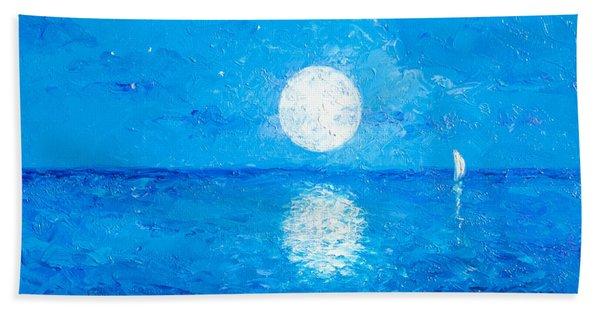 Moon And Stars Hand Towel