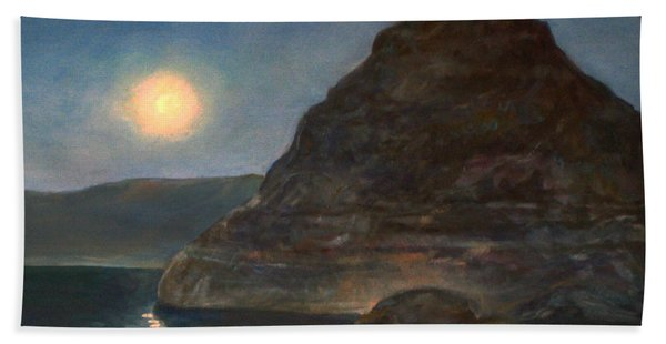 Moonlight On Pyramid Lake Bath Towel