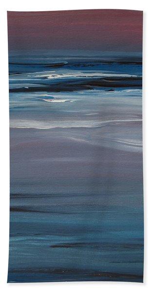 Moonlit Waves At Dusk Hand Towel