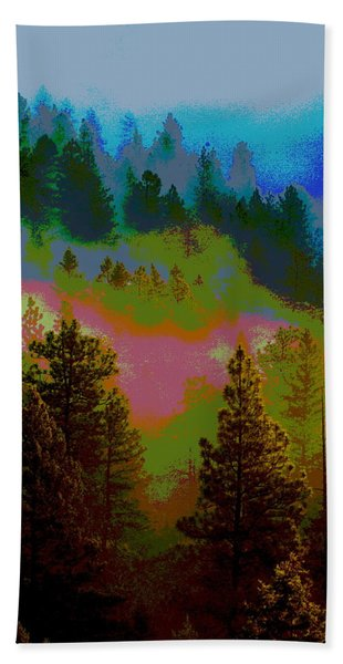 Morning Arrives In The Pacific Northwest Bath Towel