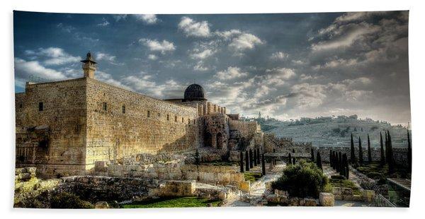 Morning In Jerusalem Hdr Bath Towel