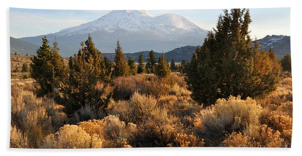 Mount Shasta In The Fall  Hand Towel