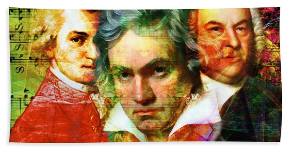 Mozart Beethoven Bach 20140128 Hand Towel