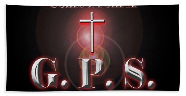Bath Towel featuring the digital art My Gps by Carolyn Marshall